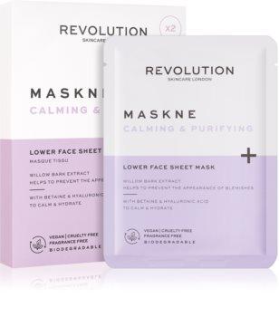 Revolution Skincare Maskcare Maskne Calming & Purifying regenerierende Maske mit Tiefenwirkung für empfindliche und irritierte Haut