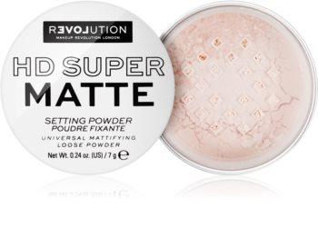 Revolution Relove HD Super Matte poudre de fixation transparente effet mat