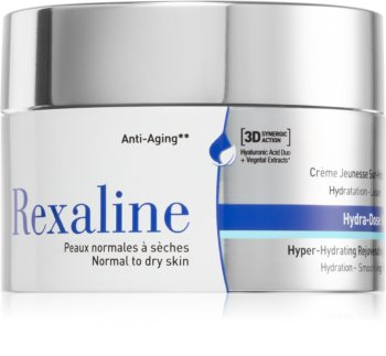 Rexaline 3D Hydra-Dose Rich хидратиращ и изглаждащ крем за лице за нормална към суха кожа