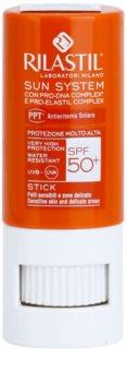 Rilastil Sun System защитен балсам за устни и чувствителни места SPF 50+
