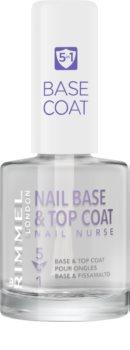 Rimmel Nail Nurse lakier bazowy i nawierzchniowy do paznokci 5 in 1