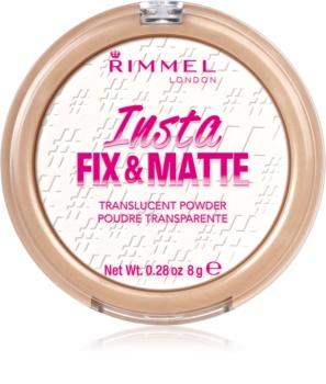 Rimmel Insta Fix & Matte poudre de fixation transparente