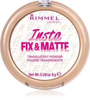 Rimmel Insta Fix & Matte прозрачна фиксираща пудра