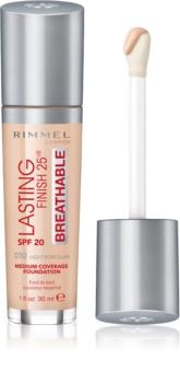 Rimmel Lasting Finish 25H Breathable fond de teint liquide SPF 20