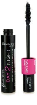 Rimmel Glam´ Eyes Day 2 Night спирала за удължаване и сгъстяване на миглите 2 в 1