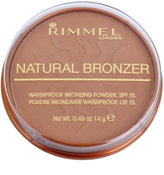 Rimmel Natural Bronzer αδιάβροχη πούδρα μπρονζερ SPF 15