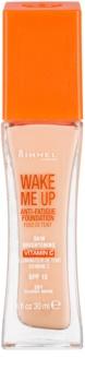 Rimmel Wake Me Up base de maquillaje líquida con efecto iluminador SPF 15