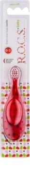 R.O.C.S. Baby escova de dentes para crianças extra suave