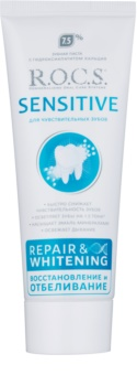 R.O.C.S. Sensitive Repair & Whitening pasta de dentes remineralizadora para dentes sensíveis
