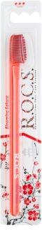 R.O.C.S. Blooming Sakura Professional escova de dentes dura