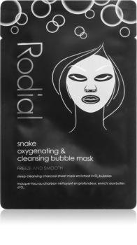 Rodial Snake Bubble почистваща и детоксикираща маска с активен въглен