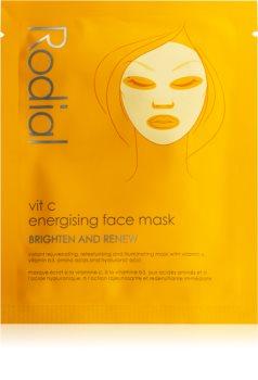 Rodial Vit C Sheet maska za posvjetljivanje i vitalnost lica s vitaminom C