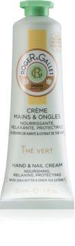 Roger & Gallet Thé Vert защитен подхранващ крем за ръце и нокти за жени