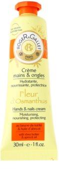 Roger & Gallet Fleur d'Osmanthus eine Crem zum Schutz von Händen und Nägeln mit Sheabutter und Aprikosenöl