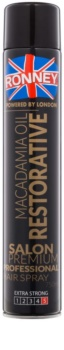 Ronney Macadamia Oil Restorative Hairspray - Strong Hold