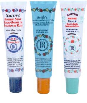 Rosebud Perfume Co. Smith's Rosebud Lip Balm Trio lote cosmético