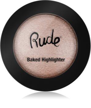 Rude Cosmetics Baked Highlighter kompakt púderes élénkítő arcra