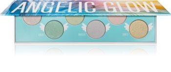 Rude Cosmetics Angelic Glow Palette mit Lidschatten und Highlightern