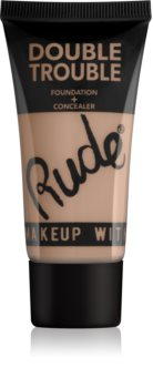 Rude Cosmetics Double Trouble 2in1 Cream Concealer and Foundation