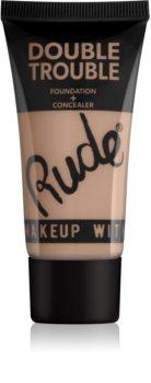 Rude Cosmetics Double Trouble кремовий коректор та тональний крем в одному