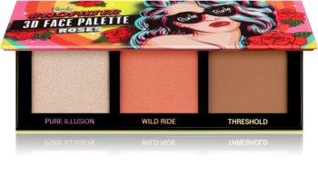 Rude Cosmetics NoFilter 3D Face Palette μικρή παλέτα περιγράμματος