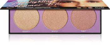 Rude Cosmetics Highlighting Shimmer Trio paletka rozjasňovačů
