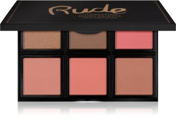 Rude Cosmetics Face Palette Undaunted Palette mit Kontur-Rouges