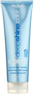 Rusk Deep Shine Color Hydrate champú hidratante y revitalizante para cabello seco y teñido