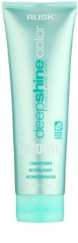 Rusk Deep Shine Color Smooth condicionador suavizante para fácil penteado de cabelo
