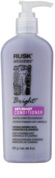 Rusk Sensories Bright condicionador para cabelos loiros e cinzentos neutraliza tons amarelados
