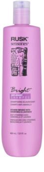 Rusk Sensories Bright champú para el cabello canoso y rubio neutralizante para tonos amarillos