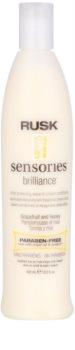 Rusk Sensories Brilliance acondicionador cremoso sin aclarado para cabello teñido y sensible