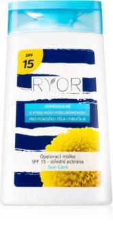 RYOR Sun Care voděodolné mléko na opalování SPF 15
