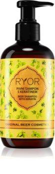 RYOR Original Beer Cosmetics pivní vlasový šampon s keratinem