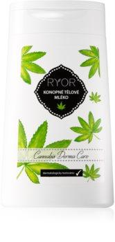 RYOR Cannabis Derma Care λοσιόν σώματος κάνναβης για πολύ ευαίσθητη επιδερμίδα επιρρεπές σε ερεθισμό και κοκκινίλες