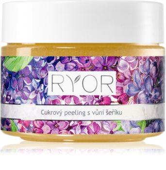 RYOR Lilac Care zjemňující cukrový peeling na tělo