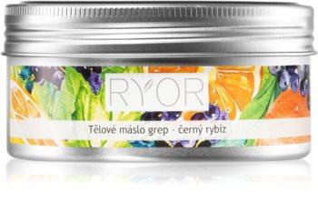 RYOR Grapefruit & Black Currant hluboce hydratační tělové máslo