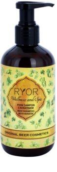RYOR Original Beer Cosmetics champú de levadura de cerveza  con queratina