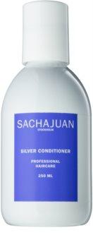 Sachajuan Cleanse and Care Silver Feuchtigkeit spendender Conditioner zum Neutralisieren von Gelbstich