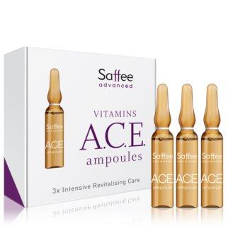 Saffee Advanced Vitamins A.C.E. Ampoules Ampulli – 3 päivän A-, C- ja E-vitamiinia sisältävä aloituspakkaus