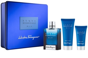 Salvatore Ferragamo Acqua Essenziale Blu coffret V. para homens