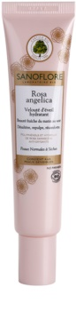 Sanoflore Rosa Angelica Creme hidratante iluminador para pele normal a seca