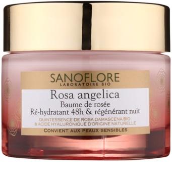 Sanoflore Rosa Angelica creme noturno hidratante com efeito regenerador