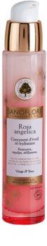 Sanoflore Rosa Angelica sérum iluminador hidratante para rosto e olhos