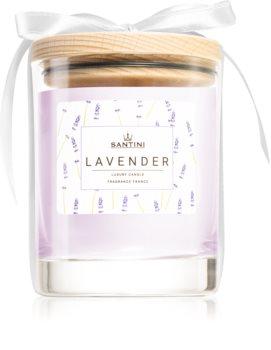 SANTINI Cosmetic Lavender vonná svíčka