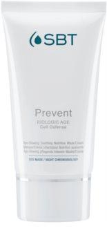 SBT Prevent mascarilla nutritiva hidratación intensa para las primeras señales de envejecimiento de la piel