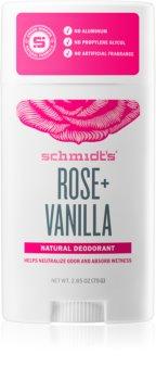 Schmidt's Rose + Vanilla στερεό αποσμητικό