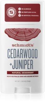 Schmidt's Cedarwood + Juniper dezodorant bez dodatku soli aluminium