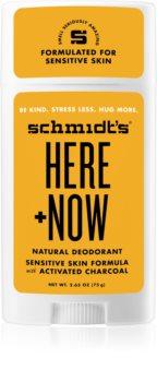 Schmidt's Here + Now дезодорант стик
