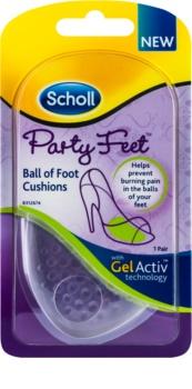 Scholl Party Feet Ultra Slim palmilha em gel sob a planta do pé